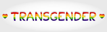 Seksuele geaardheid, een gekleurd boord van het woord transgender