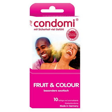 Condomi condoom fruit en kleur