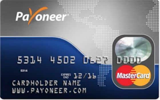 Payoneer prepaid mastercard voorbeeld