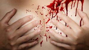 Nursing waarbij het bloedspel gespeeld wordt
